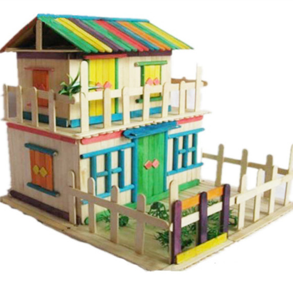 US $10 39  DIY cabin model making kit,educational toys, assembled building  kid toys-in Teaching Resources from Office & School Supplies on