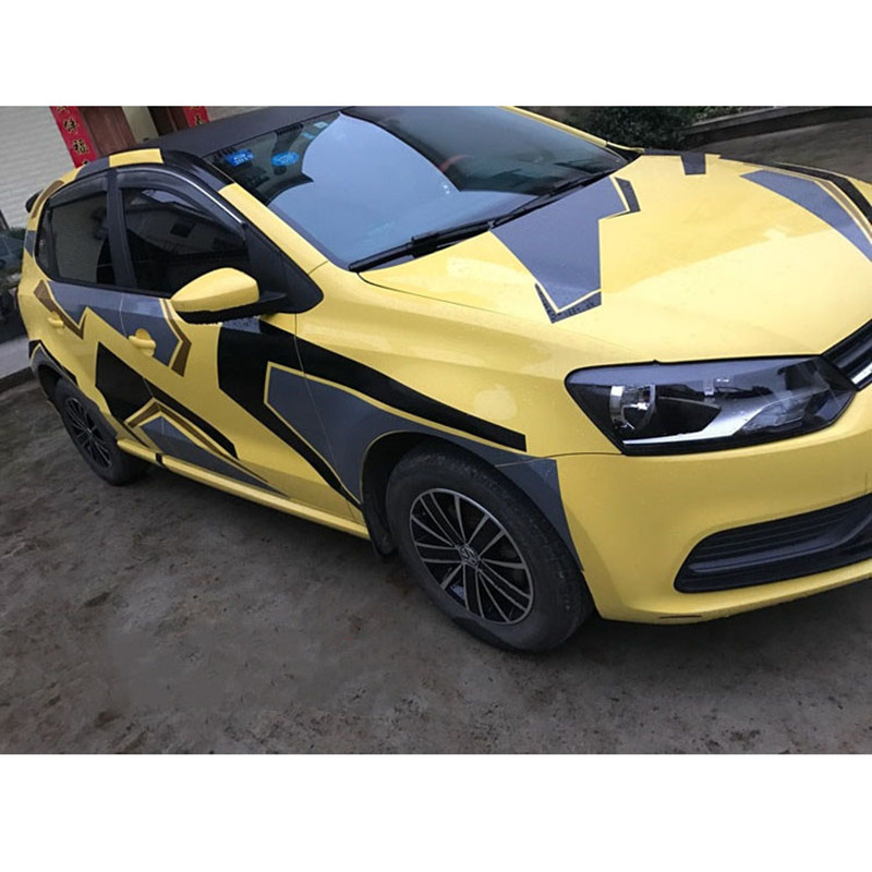 Image 3 - Camouflage Creative Car Whole Body Stickers And Decals DIY Decoration Automobiles Products Car Accessories For Volkswagen Polo-in Car Stickers from Automobiles & Motorcycles