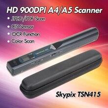 Skypix TSN415 A4 Цвет изображения контакта сканер документов HD 900 точек/дюйм JPEG/PDF OCR Портативный сканер A4 Размеры Бумага w/сумка сканер