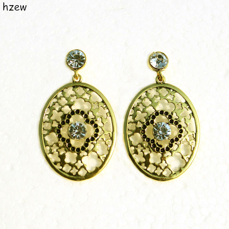Aliexpress.com : Buy hzew cute Oval ancient gold simple earrings ...