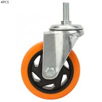 Wheel For Trolley Caster Wheel 4pcs 4 Inch Swivel Bearing Caster Wheels For Trolley Light Orange Castor Wheels