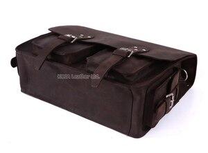 Image 5 - Vintage çılgın at deri erkek seyahat çantası bagajı çantası erkekler silindir çanta haftasonu büyük hakiki deri omuzdan askili çanta Crossbody büyük