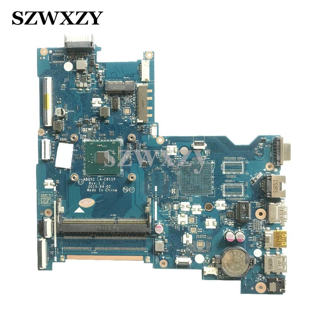 ABQ52 LA C811P For HP Pavilion 15 AC Laptop Motherboard REV 1 0 SR29E N3700 Processor
