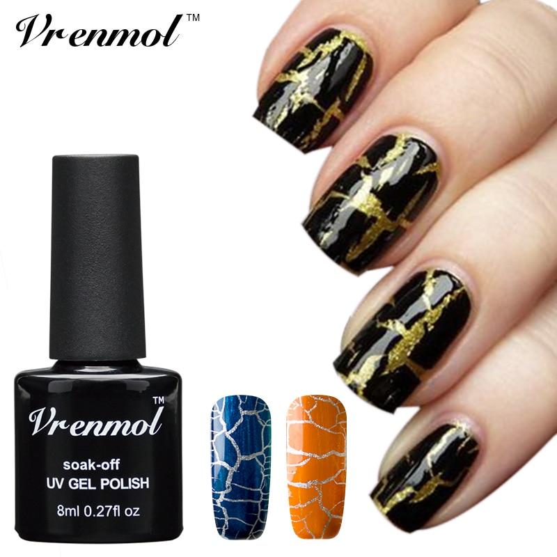 Vrenmol 1pcs Crack Nail Gel Polish Cracking Nail Varnish