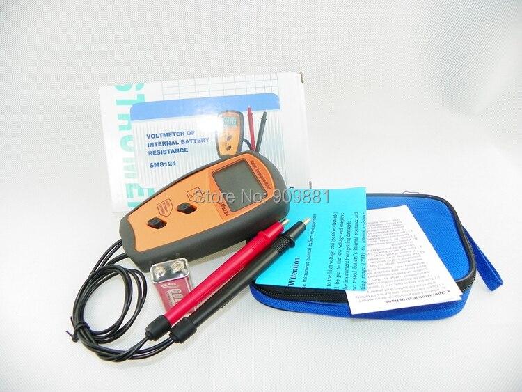 SM8124 Batterie Interne Résistance Impédance Mètre Batterie Résistance Voltmètre 200 V Testeur de Batterie Basse Tension rapide