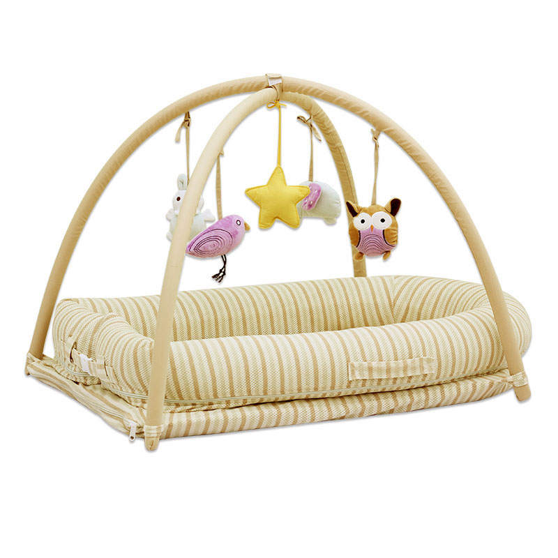 Multifunctional Portable Travel Baby Crib Netting Set 3D Organic Cotton Newborn Baby Portable Bed Gym Activity Playmat Bassinet