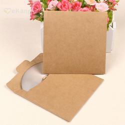 20 шт. г бумажный диск г Kraft 250 CD рукава Обложка Свадебная вечеринка конверт 12,5x12,5 см