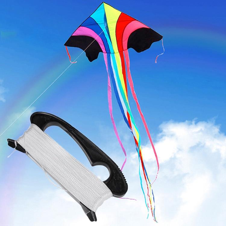 100 Meters Black Kite Wire Board Children's Kite Wheel Kite Accessories Manufacturers Direct Sales Wholesale Nylon Line