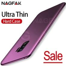 Nagfak luxo fosco caso de telefone duro para samsung galaxy s9 s9plus s8 s8plus s7 s6 borda capa ultra fino caso saco do telefone de plástico