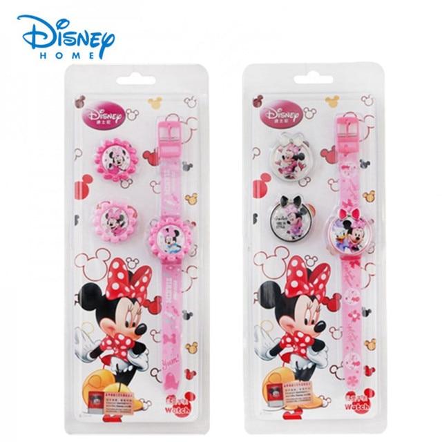 100% Genuine Disney watch Minnie Mouse watches kids fashion cartoon digital watch