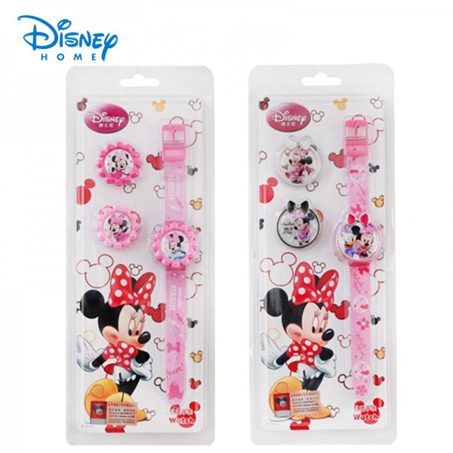100% Genuine Disney watch Minnie Mouse watches kids fashion cartoon digital watc