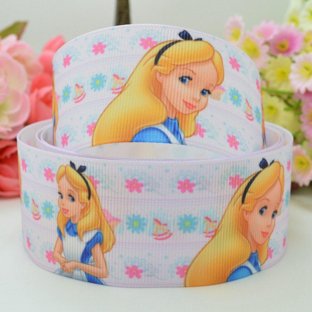 ALICE IN WONDERLAND Printed Cake Bow Craft Grosgrain Ribbon Buy 2 Get 1 Free
