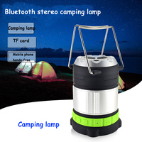 Multi function portable outdoor LED lighting lamp Bluetooth speaker camping lamp for tent camping wireless audio