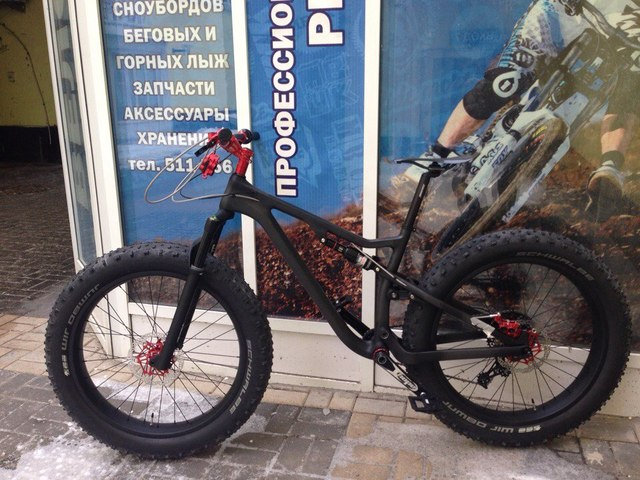 High End Full Suspension Carbon Fat Bike Frame 26 Inches 4