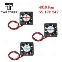 3D принтер вентилятор 5 V/12V24V Вентилятор охлаждения 4010 24 V(40*40*10 мм) 4010 5/12/24 V с бесщеточным двигателем постоянного тока вентилятора для теплоотводящий кулер охлаждения 2pin
