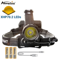 Alonefire HP38 Xlamp XHP70.2 50000LM Led headlamp high powerful led headlight head lamp 18650 Waterproof flashlight torch