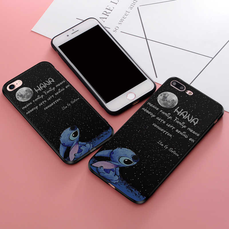 Para Huawei P20 Pro Caso Ohana Lilo Ponto Casos de Telefone de Silicone Macio Para Huawei P Inteligente P10 P20 Cobertura Lite
