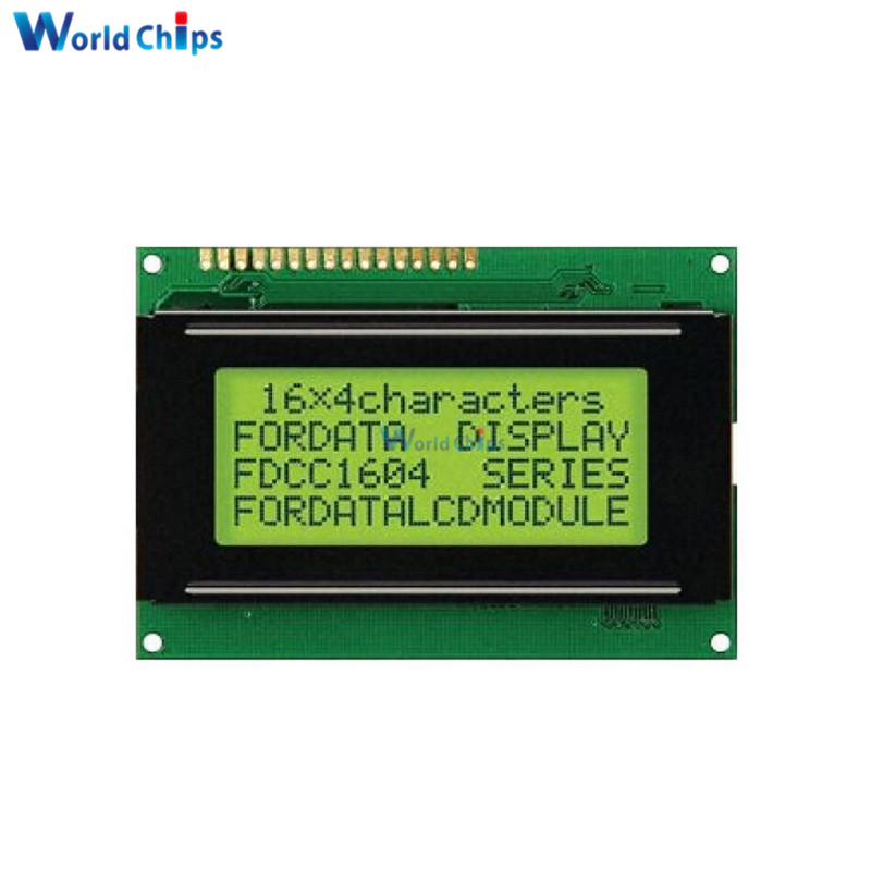 LCD 16x4 1604 Character LCD Display Module LCM Yellow Blacklight 5V