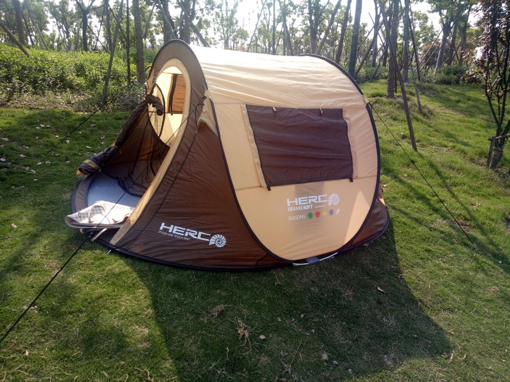 Large space outdoor camping pop up tent beach tent instant tent 3-4 person tent outdoor camping hiking automatic camping tent 4person double layer family tent sun shelter gazebo beach tent awning tourist tent