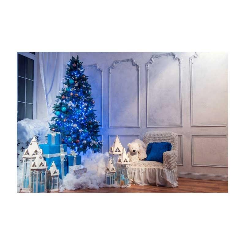 Horizontale Vinyl Druck 3D Warmweiss Weihnachten Wohnzimmer Fotografie Hintergrund Fr Fotostudio Portrt Hintergrnde ST 515