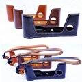 Pu cuero de la cámara caso de medio cuerpo inferior cover set para fujifilm fuji x-pro2 xpro2