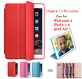 Original 1:1 Slim Smart Case For Apple iPad mini 4 PU Leather Cover For Apple iPad 234/iPad Air1 Auto Sleep/Wake