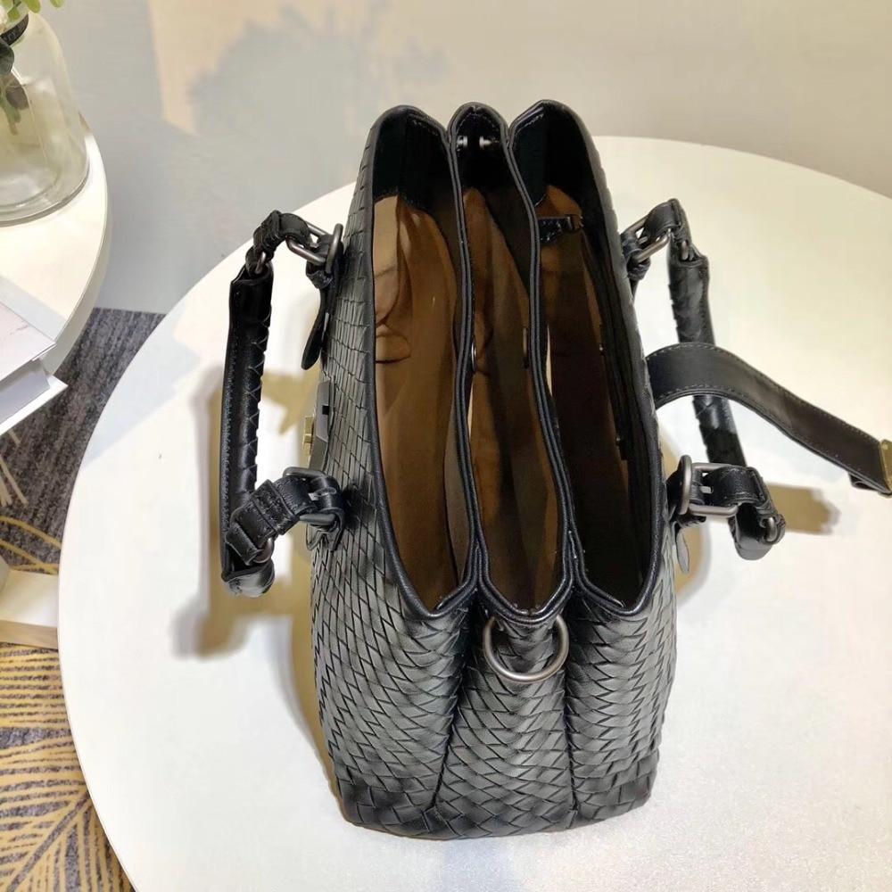 Elegante Interne Tasche Qualität 2019 Neue Haut Die Manuelle Tragbare Muster Schulter Einzelnen schaffell Hohe Frau hirsch Stricken r6YZYAwx