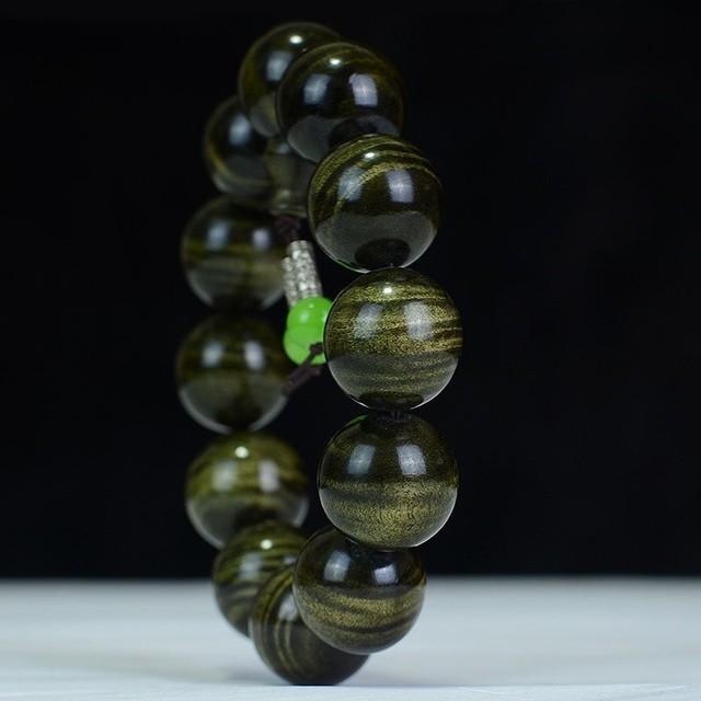 Gold Camphorwood Natural Wooden Bracelet