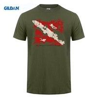 GILDAN Brand Sale 100 Cotton T Shirt High Quality For Man Better Premium Dive Flag Summer
