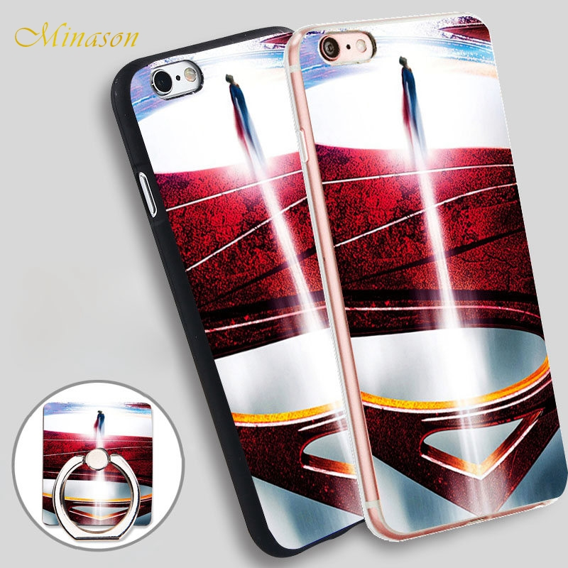 Minason Man Of Steel <font><b>Blu</b></font> <font><b>Ray</b></font> Soft TPU Silicone Phone Case Cover for iPhone X 8 5 SE 5S 6 6S 7 Plus