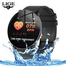 LIGE New Men Smart Watch Heart Rate Blood Pressure Monitor fitness tracker Waterproof Smartwatch Women Pedometer For Android IOS все цены