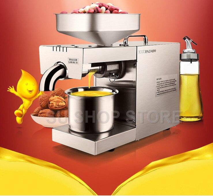 220 V/110 V Calor e Frio máquina da imprensa de óleo casa pinenut, máquina da imprensa de óleo de alta taxa de extração de óleo