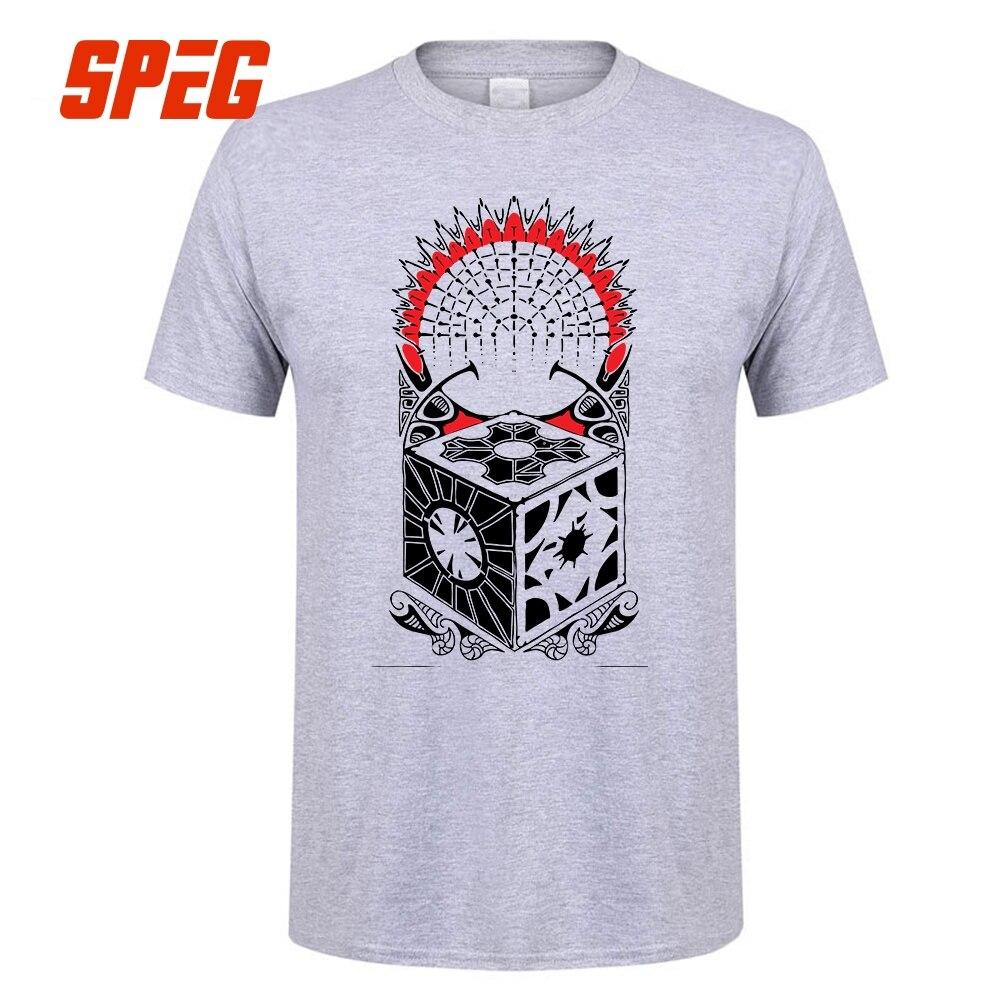 Tee Hellraiser Polynesian Tribal Puzzle Box Male O-Neck Short Sleeve Puzzlebox T-Shirt New Gray Tops Man T Shirt Design Fashion