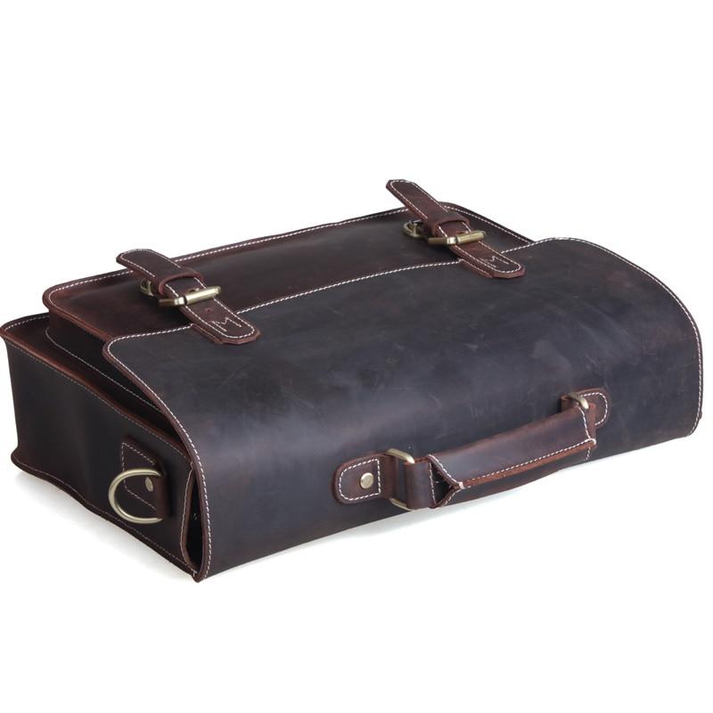 couro nova chegada 1099 Estilo : Vintage Messenger Bag