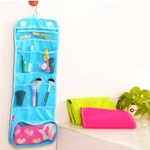 Fashion Portable Hanging Organizer Bag Foldable Cosmetic Makeup Case Storage Tra