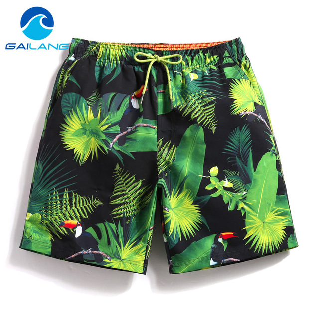 Gailang Brand 2018 Swimwear Men Beach Shorts Trunks Quick Dry Board Boardshorts Bermuda Man Swimsuits Boxer Trunks Casual Shorts