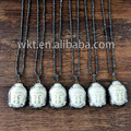 Wholesale natural turquoise tibetan buddha necklace handmake carved turquoise buddha necklace WT-NV014