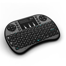 цена на 2.4GHz Black Rii Mini i8+ Wireless Keyboard With Touchpad Teclado Mouse Combo For PC HTPC Smart TV Android TV Box Game Keyboards