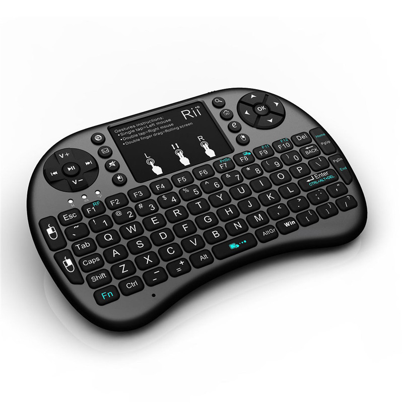 2.4GHz Black Rii Mini i8+ Wireless Keyboard With Touchpad Teclado Mouse Combo For PC HTPC Smart TV Android TV Box Game Keyboards