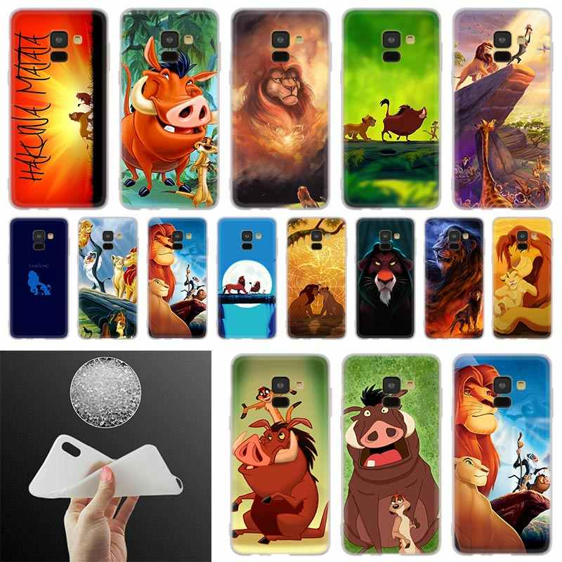 Comic The Lion King Hakuna Matata Soft PhoneCase For Samsung Galaxy A50 A10 A20 A30 A40 A60 A70 A6 A8 Plus A7 A9 2018 A3 A5 2017