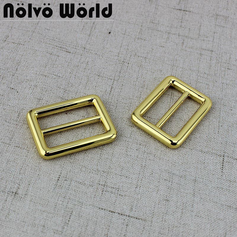 50pcs 25mm 1 inch 32mm 1 2inch deep gold silder buckle belts bags fasteners adjuster welded