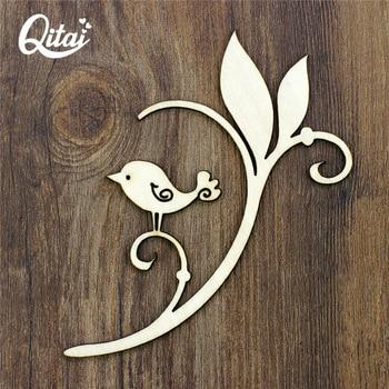 Qitai 12 Unidslote Nuevos Productos De Bricolaje Flores Corona Chapa De Madera Forma álbum De Recortes Adornos Artesanía Productos Al Por Mayor
