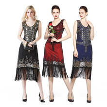 1920s Costumes Flapper Dress Sequin Outfits Great Gatsby Vintage Party Cocktail Bodycon Beaded Ballroom Latin Dance