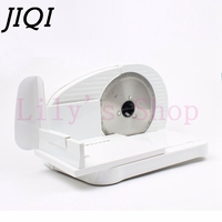JIQI Electric Mutton Rolls Meat Slicer Mincer Automatic Beef Lamb Potato Slice Bread Frozen Food Cutter Grinder Machine 100W EU