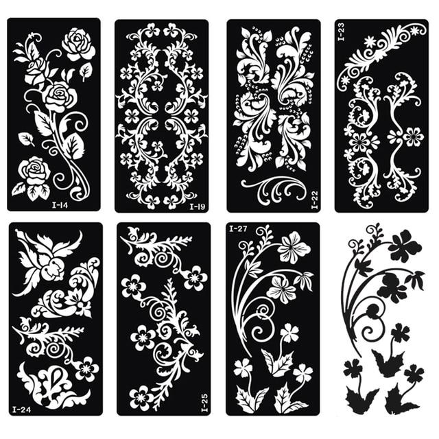 Harga Henna Tattoo Kit: Aliexpress.com : Buy Xmasir 20 Sheet Indian Henna Tattoo