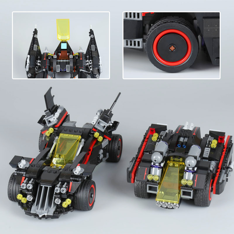 Lepin 07077 Genuine Batman Movie Series Ultimate Batmobile Educational Building Blocks Bricks Toys Compatible With lego 70917 new 1628pcs lepin 07055 genuine series batman movie arkham asylum building blocks bricks toys with 70912 puzzele gift for kids