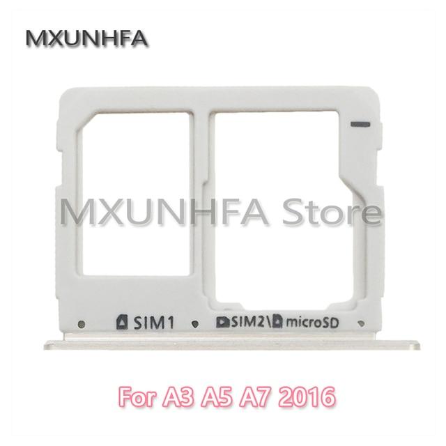 Dual SIM ranura para tarjeta Micro SD bandeja de soporte para Samsung Galaxy A3 A310 A5 A510 A7 A710 2016 piezas de repuesto