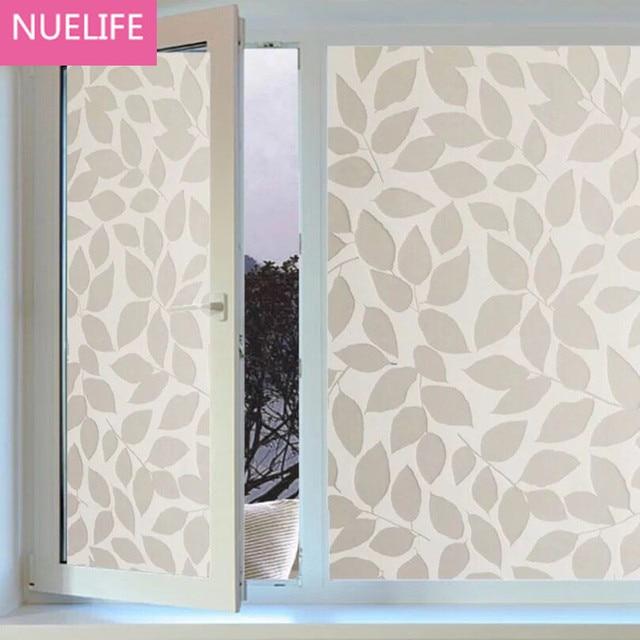 45x200 Cm Blatt Muster Film Auf Das Glas Schiebetür Wohnzimmer Schlafzimmer  Badezimmer Balkon Fenster Dekoration Aufkleber
