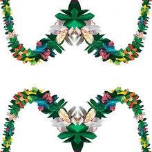 Гирлянда с тканевыми цветами для лета, тропические Гавайские луауские пляжные Вечерние Декорации для дня рождения, свадьбы, детского душа