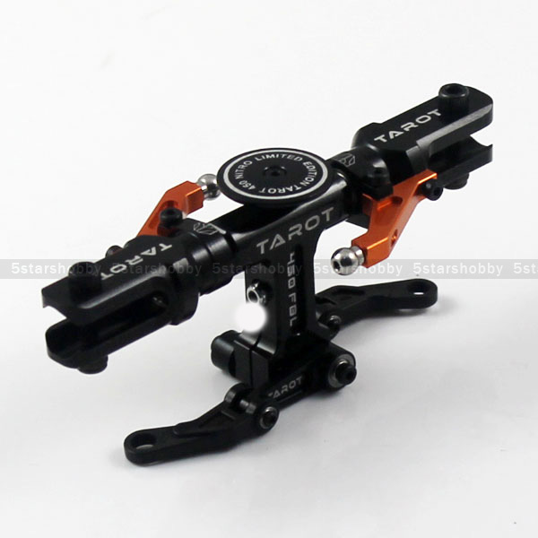 Tarot 450 Flybarless Helicopter Main Rotor Head Black For Align Trex 450 Helicopter TL45110-07 450 rc helicopter screws linkage ball washers for trex 450 helicopter